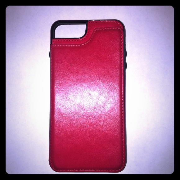 iPhone leather wallet card case